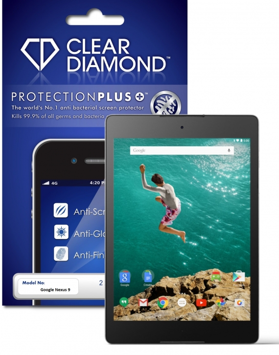 Google Nexus 9 Protection Plus Anti Glare Screen Protector (Pack of two)