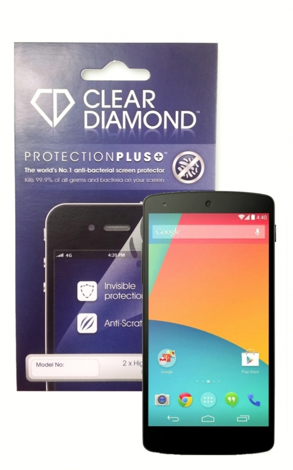 Google Nexus 6 Hardcoat Screen Protector (Pack of two)