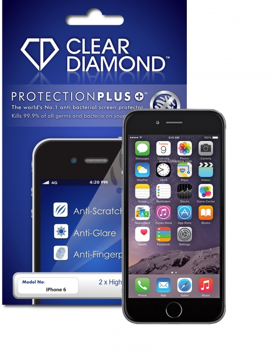iPhone 6 Hardcoat Screen Protector (Pack of two)